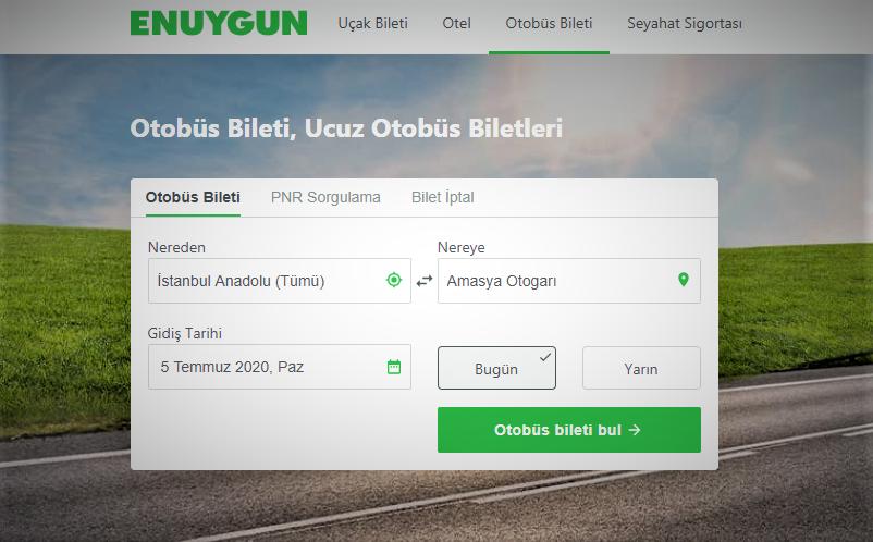 OTOBÜS BİLETİ ARAMA MOTORLARINI İNCELEDİM